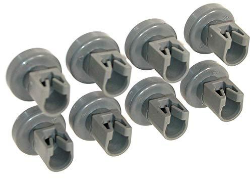 ELECTROHOGAR® - Ruedecillas Lavavajillas - Juego 8 Ruedas para Cesto Superior - Repuesto para Zanussi, AEG, Electrolux, Ikea.