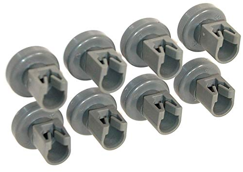 Rotelle Lavastoviglie Rex Electrolux, Rex, Electrolux, Zanussi, AEG, Ikea (8 Ruote Cestello Superiore)