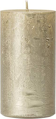 safe candle Dekorierte Kerze Nova selbstverlöschend, 4 Stück, Höhe 11 cm/Ø 6 cm, 38 Std. Brenndauer (Creamgold)