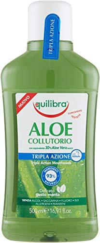 Equilibra Igiene Dentale, Aloe Collutorio Tripla Azione, Collutorio a Base di Aloe Vera,...