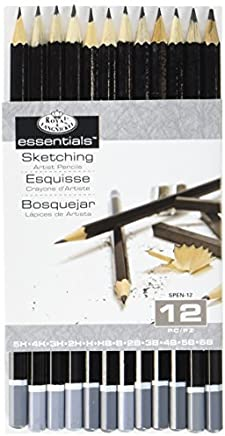 Royal & Langnickel sketching artist pencils - set of 12 drawing pencils 5H to 6B