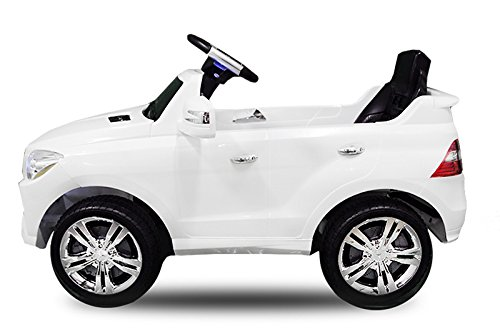 RC Auto kaufen Kinderauto Bild 5: Toyas Lizenz Kinderfahrzeug Mercedes Benz Jeep SUV ML350 Kinderauto Elektroauto 2X 25W Motor Fernbedienung MP3 Anschluss in Schwarz*