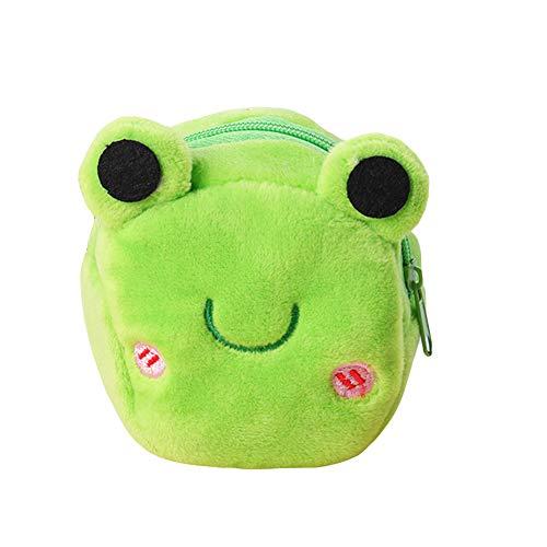 ZqiroLt Petit porte-monnaie, cadeau d'anniversaire pour enfants, portefeuille mignon en argent pour animaux avec un panda en peluche Frog