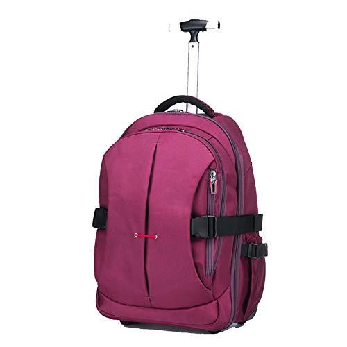 Mochila con ruedas de 19 pulgadas para adultos y estudiantes de la escuela Bolsa de viaje para libros, mochila Trolley bolso de hombro mochila para estudiantes de secundaria bolsa para estudiantes de