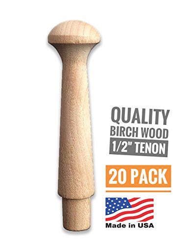 Birch Wood Shaker Pegs 3-1/2'–Strong Unfinished Wooden Peg Hooks, Smooth Texture,Easy to Paint, Classic Style, Made in The USA –Suitable for Coat Wall Racks, Hanging Towels, Organizing Cups & Mugs