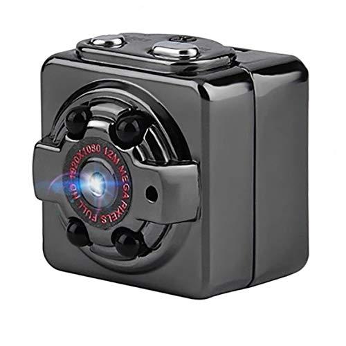 QiKun-Home Mini cámara de Coche Videocámara Night Dv Cámara de Seguridad para el hogar Cámara de Movimiento por Infrarrojos Grabadora 1080P Cámara pequeña Negro