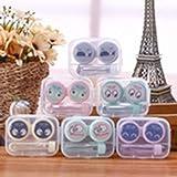 Cartoon Nette Kontaktlinsenbehälter Augenpflege Kit Tragbare Kontaktlinsenhalter Aufbewahrungsspiegel Box für