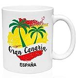 N\A Taza de Café de Cerámica Gran Canaria Islas Canarias 11oz