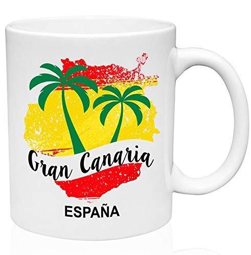 Taza de café de cerámica de las Islas Canarias de Gran Canaria de 325 ml