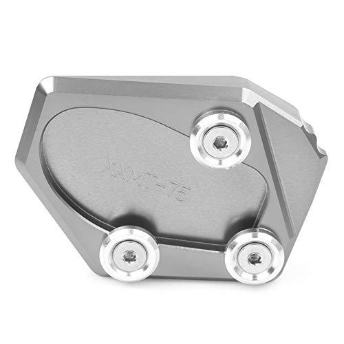 Motorcykel Kickstand Extender Kickstand Foot Side Stand Extension Pad Support Plate For Yamaha FZ1 2006 2007 2008 2009 2010 2011 2012 2013 2014 2015 (Färg : Gray)