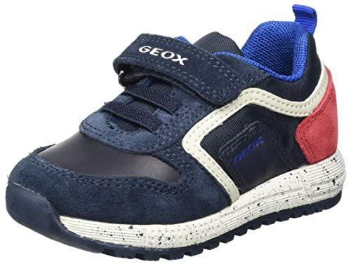 Geox Baby Jungen B ALBEN BOY C Sneaker, (Dk Navy/Dk Red), 25 EU