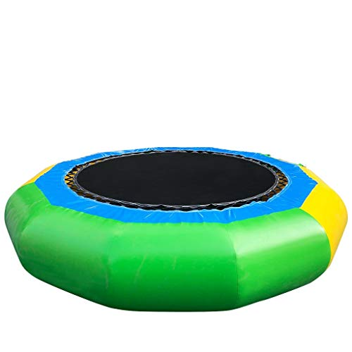 Water Inflatable Cushion Inflatable Water Trampoline Bouncing Swimming Platform Inflatable Diving Device Portable Diving Trampoline with Electric Pump (Bigger)