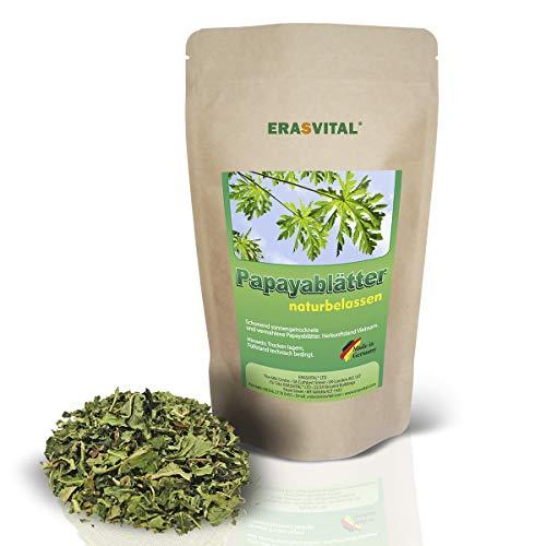 ERASVITAL® Papaya-Blätter und Papaya-Stängel geschnitten 250 g ohne weitere Zusatzstoffe