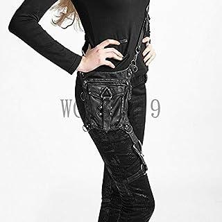 Rock Leather Retro Vintage Gothic Steam-Punk Shoulder Waist Bag Purse Leg Pack
