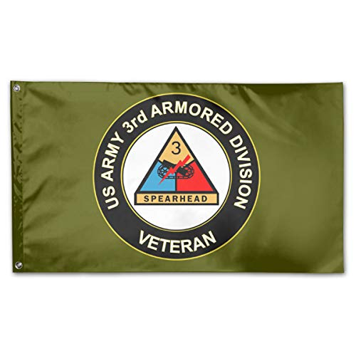 JANLAGERFLAG 3x5 Foot US Army Veteran 3rd Armored Division Flag Navy Green Flag
