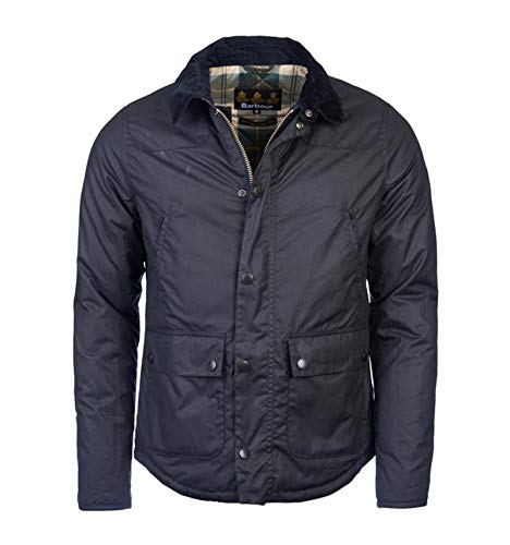 Barbour MWX1106-NY92 Reelin Waxed Jacket Navy - Chaqueta acolchada para hombre, color...