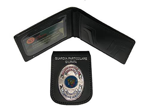 Portafoglio con Placca Estraibile Guardia Giurata Incaricato Pubblico Servizio