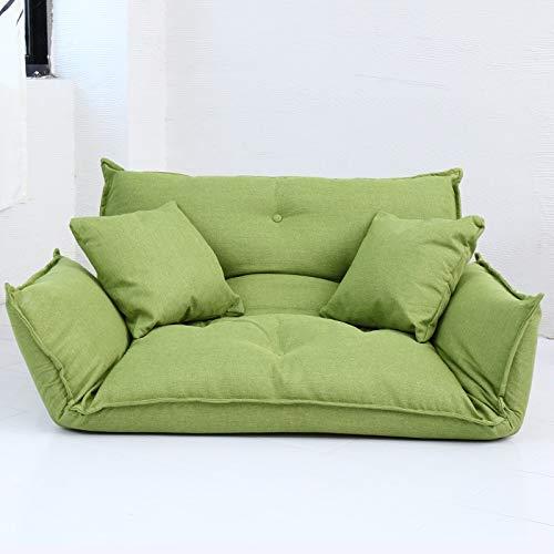 TXXM Sofá Cama con Dosel de Tela Sofá Cama con Cojines Sofá Cama con Respaldo Ajustable Silla de sofá con cojín de Suelo Desmontable extraíble, Multicolor (Color : Green)
