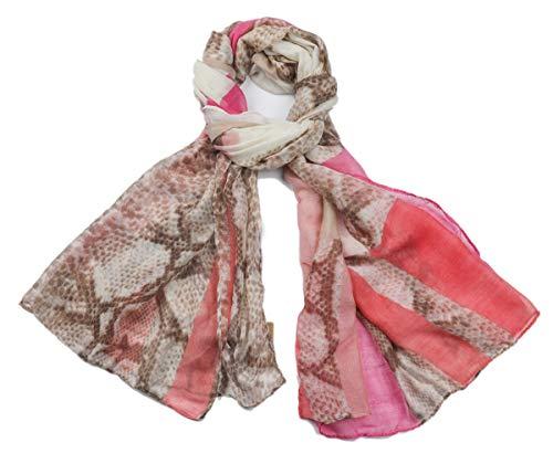 Dielay dames sjaal slangenpatroon Snake 180x90 cm