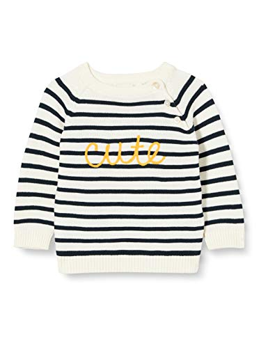 NAME IT Jungen NBMDISMO LS Knit Pullover, Snow White, 86