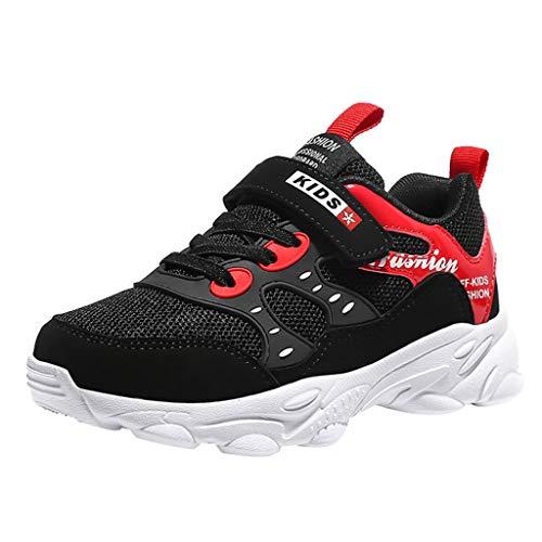 Alwayswin Modische Kinderschuhe Freizeitschuhe für große Kinder Outdoor-Sportschuhe Jungen Mädchen Weicher Boden Sneaker Schuhe Bequeme rutschfeste Turnschuhe Leichte Laufschuhe