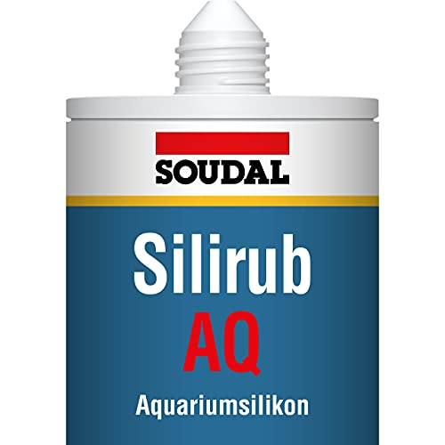 Soudal - Cartucho de Silicona para Acuario. Negro. 310ml