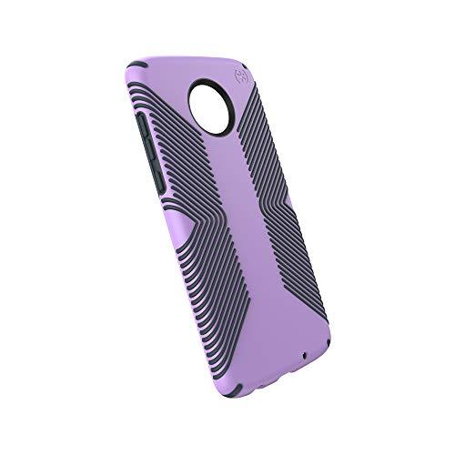 Speck Products Moto Z4 Next Gen Case, Presidio Grip, Jelly Purple/Charcoal Grey