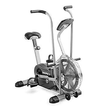 Marcy Exercise Upright Fan Bike for Cardio Training and Workout AIR-1  black 48.0  L x 25.0  W x 48.0  H