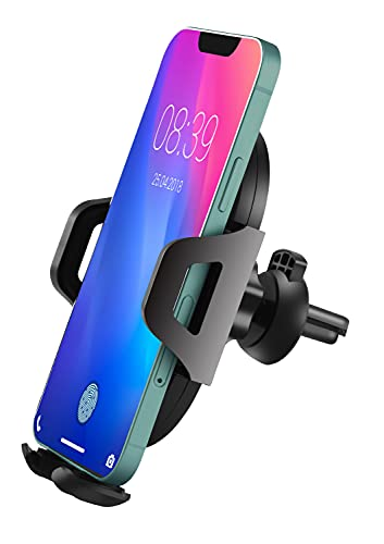 Car Phone Holder Mount, SNEDIY Hands Free Universal Cell Phone Holder for Car, Air Vent Phone Car Holder Compatible with iPhone 12/12 Pro/12 Pro Max/11, Galaxy S20 Samsung Etc.