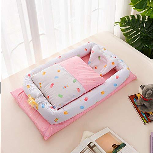 CANDYANA Baby bed Pasgeboren Draagbare Zachte Ademende Baby Nest Afneembare Set Baby Bionic Bed Baby Peuter Ledikant Matras Slaapkamer Reizen