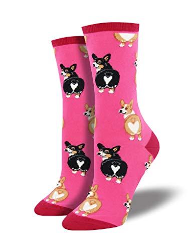 Socksmith Corgi Butt Socks Pink Size 9-11, 1 EA