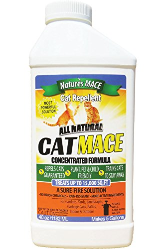 Nature's Mace Cat Repellent 40oz Concentrate/Treats 16,000...