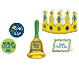 Beistle Pack of 6 Father's Day King for A Day Kit Handheld and Wearable Accessories 9'