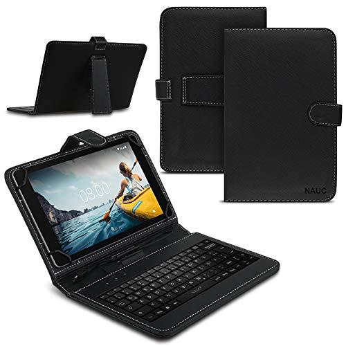 Tablet hoes compatibel met Medion Lifetab X10609 tas toetsenbord toetsenbord QWERTZ beschermhoes cover stafunctie USB bescherming case