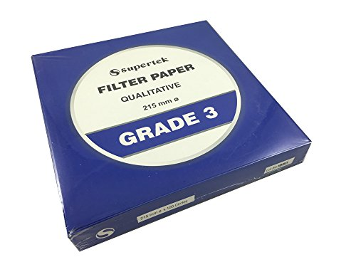 Filter Paper, Qualitative, Grade 3, 215 mm (Diameter) Pack of 100 Sheets