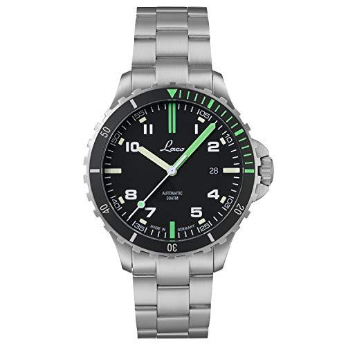 Reloj deportivo Amazonas MB de Laco – Fabricado en Alemania – 42 mm de diámetro – Reloj automático de alta calidad – Calidad excepcional – Resistente al agua 30 ATM – Desde 1925