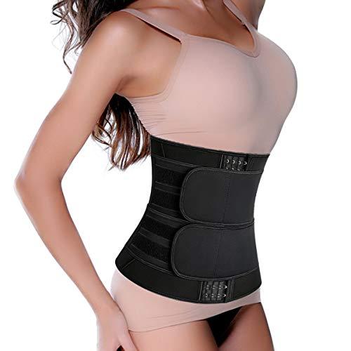 SHAPERIN Neopren Waist Trainer Korsett Bauch Weg corsette Damen schweißgürtel Body Shaper Bauchgürtel mit abnehmbare Belt für Abnehmen Fitness Slimming Belt für Sport Fettverbrennung(H,S)