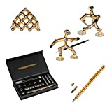 asuku Decompression Magnetic Pen, Magnets DIY Toys,Fidget Toys, Magnetic Sculpture Building Blocks, Desktop Sculpture Toys,Intelligence Learning and Stress Relief Gift for Family or Friend. … …