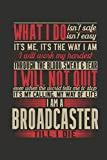 Notebook: Notebook: Broadcaster (120 Checkerd Pages, Softcover)