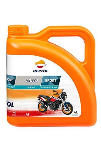 REPSOL Moto Sport 4T 10W-40 Aceite De Motor Para Moto, 1l