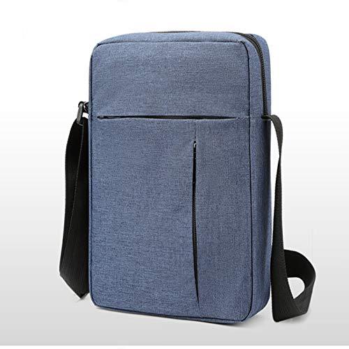 ZHANJIN Bolso Diagonal de un Hombro de Hombres, Bolso Cuadrado de Moda de un Solo Hombro, Bolso de Hombro Casual para Hombres,Azul