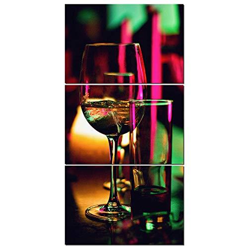 ZDtgcf Poster en afdrukken 3 stuks champagne alcohol jenever voor bar schilderen muurkunst canvas kunst schilderkunst schilderij wandschilderijen voor woonkamer verjaardag 60 cm x 90 cm x 3