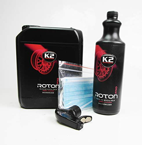 K2 Roton Pro - Felgenreiniger Alufelgen Stahlfelgen Indikator Flugrostentferner ph Neutral 5L Kanister + 1L Flasche Setangebot