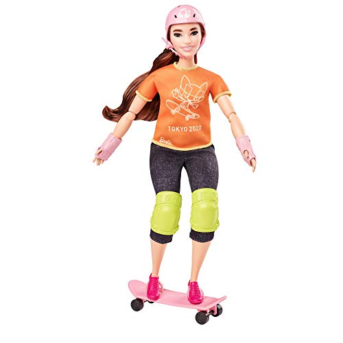 Barbie- Juegos Olímpicos Tokio 2020 muñeca patinadora con uniforme y con accesorios (Mattel GJL78) , color/modelo surtido