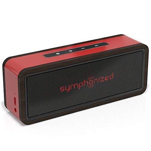 Symphonized NXT 2.0 Bluetooth Wireless Tragbare Lautsprecher Dual-Driver Audio Player Inklusive AUX-Kabel für Nutzung mit Kabel Universelle Kompatibilität (Rot)