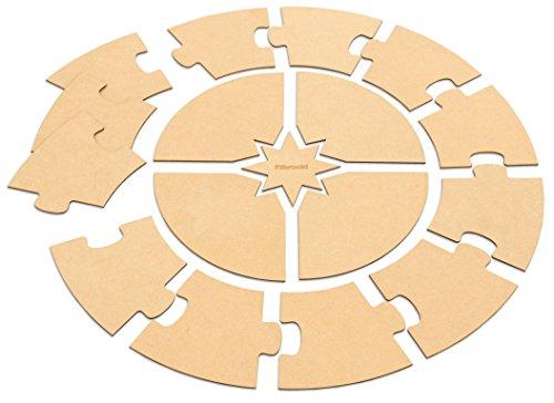 Betzold 70812 - Montessori-Material Jahreskreis Holz Selbstgestalten Ø 70 cm Kinder