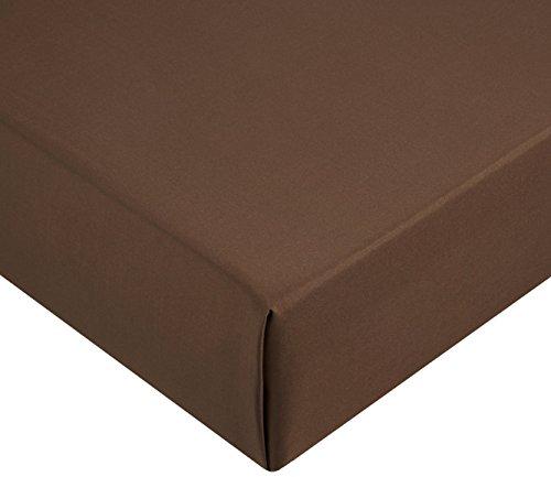 Amazon Basics AB Microfiber, Microfaser, Braun, 140 x 200 x 30 cm