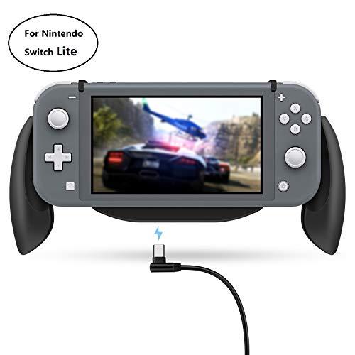 Lammcou Supporto Switch Lite per Nintendo Switch Lite supporto maniglia supporto maniglia maniglia con scatola giochi per giochi switch Splatoon FIFA Yoshi's - nero