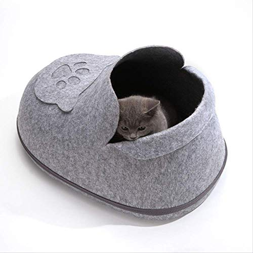 GSDJU Haustiernest Katzennest Tragbare abnehmbare Schuhe Haustiernest Warm Pet Pad