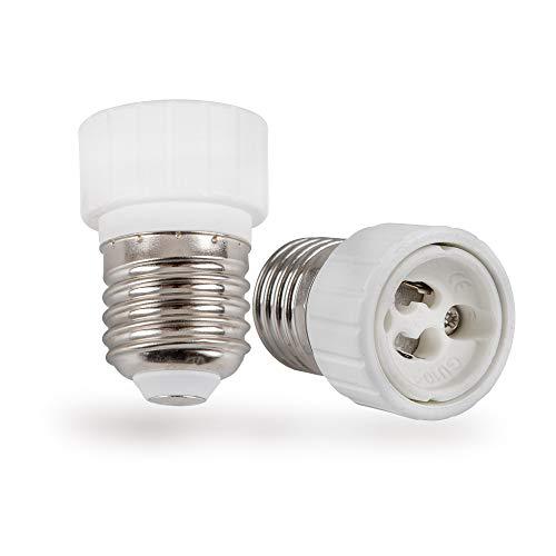 Mextronic Conversor de cerámica, 2 casquillos adaptador convertidor E27 a casquillo GU10,...